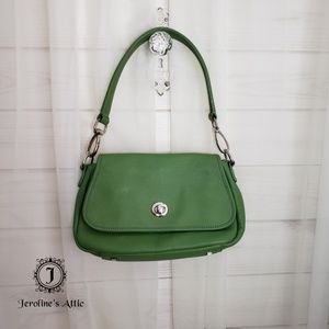 💥FINAL SALE Express Genuine Leather Green Purse
